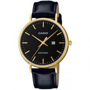 Casio LTH-1060GL-1AER - Montre pour femme avec bracelet en cuir Collection