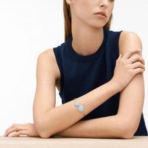 SKAGEN : Bracelet Sea Glass SKJ0788040 - Bracelet Argenté Disques Femme