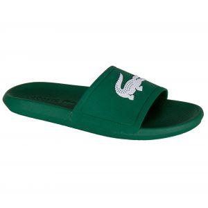 Lacoste Croco Slide 119 1 CMA Sandales Bout Ouvert Hommes, Vert