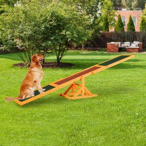BC-Elec Bc elec - HCWS Balançoire à bascule pour chien agility agilité entraînement et dressage chien 180x30cm