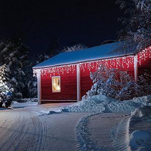 Blumfeldt Dreamhouse Snow - Guirlande lumineuse de Noël 480 LED effet neige blanc glacé (24m)