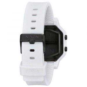 Nixon Montre A1210-100-00 - SIREN Bracelet Silicone Blanc Boîtier Acier Blanc Carré Homme,Femme