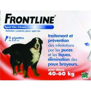 Frontline Spot On Chien 40-60 kg - Soin antiparasitaire