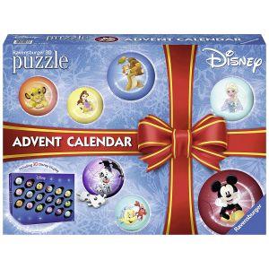 Ravensburger Calendrier de l'Avent Disney Princess - Puzzle 3D 27 pièces
