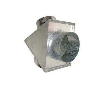 Delta Y de distribution d'air chaud en acier galva boitier réduit 1x150mm/2x100mm