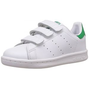 Adidas Stan Smith, Sneakers Basses garçon, Blanc (White/White/Green), 32 EU (UK Child 13.5 Enfant UK)