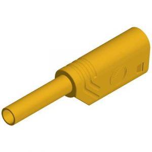 SKS Hirschmann Fiche banane mâle de sécurité Ø 2 mm MST S WS 30 Au 975090703 jaune 1 pc(s)