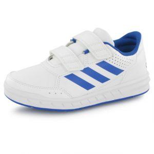 Adidas AltaSport CF K, Chaussures de Fitness Mixte Enfant, Blanc Cassé (FTWR White/Blue/FTWR White), 28 EU