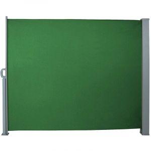 Auvent store latéral brise-vue abri paravent soleil aluminium rétractable hauteur 180 cm longueur 300 cm vert