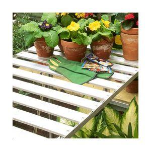 Image de Lams Table rabattable en aluminium anodisé pour serre 120 x 52 x 76 cm