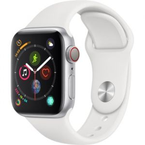 Apple Watch Series 4 + Cellular - 40mm - Acier / Blanc