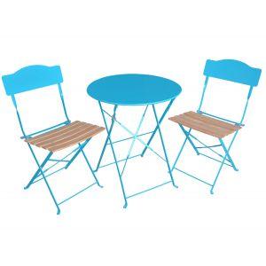 Hesperide Helena - Table de jardin en acier avec 2 chaises