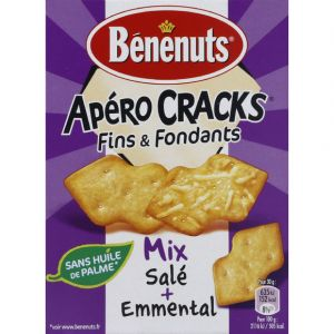 Benenuts Apero cracks fins & fondants emmental & sale - Le paquet de 85g