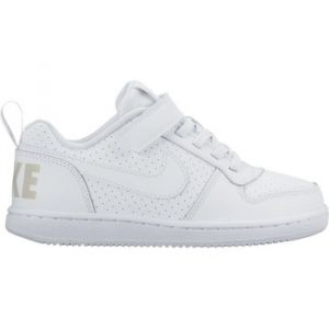 Nike Court Borough Low (PSV), Chaussures de Basketball Garçon, Bianco (White/White), 29.5 EU