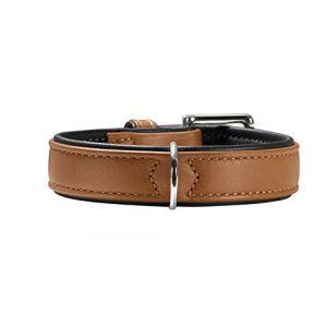 Hunter Collier Canadien en cuir d'élan taille 55 Longueur 42-48 cm Largeur 36 mm