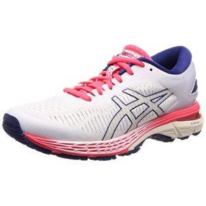 Asics Gel-Kayano 25, Chaussures de Running Femme, Blanc (White/White 100), 40.5 EU