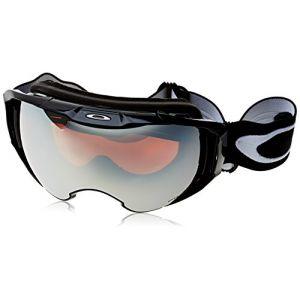 Oakley Airbrake XL Masque de Ski Mixte Adulte, Jet Black/Prizm Black Iridium & Prizm Rose