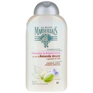 Le Petit Marseillais Douceur & Réparation - Shampoing au lait d'Amande douce & graine de Lin