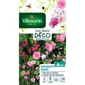 Vilmorin Mélange de fleurs pour bouquet rose