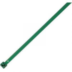 Hellermanntyton Serre-câbles 196 mm x 4.8 mm vert 115-00005 crantage intérieur 25 pc(s)