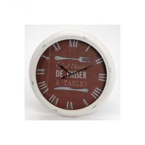 Amadeus Partie de campagne  -Horloge murale en métal A table 62.5 cm