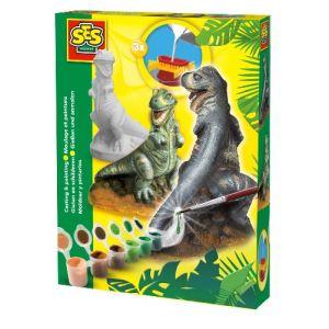 Ses Creative Moulage en plâtre : T-Rex