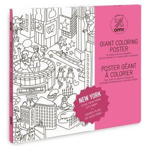 Omy Poster géant à colorier : New York (100 x 70 cm)