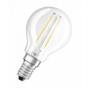 Image de Osram Ampoule LED Filament, Forme sphérique, Culot E14, 1,1W Equivalent 15W, 220-240V, claire, Blanc Chaud 2700K