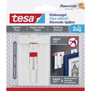 Tesa Clou adhésif ajustable 77777-00000-00 blanc 1 l'ens.