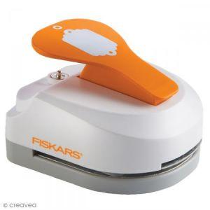 Fiskars Machine à étiquette - Tag Maker - Festonné - 5 x 7,5 cm