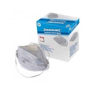 Silverline 245104 - Boîte de 25 masques respiratoires FFP2  pliables à valve