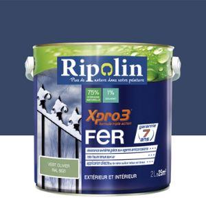 Peinture fer exterieur bleu comparer 407 offres for Ripolin gris souris