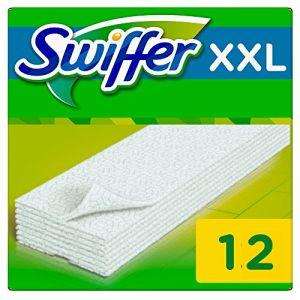 Swiffer Recharges lingettes sèches pour balai attrape-poussière XXL - 3x 12 lingettes