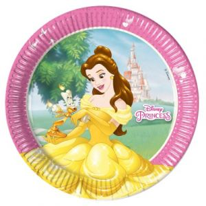 Procos 8 assiettes en carton Princesses Disney