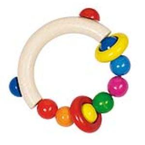 Heimess Hochet demi-cercle avec perles et 2 anneaux