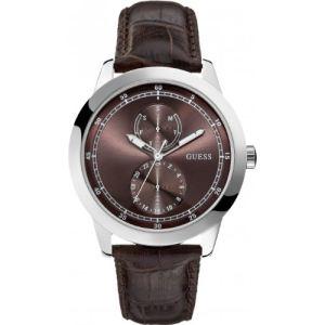 Guess W75065G - Montre pour homme avec bracelet en cuir