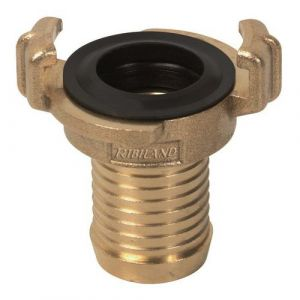Ribimex Raccord pompier laiton cannelé 5/8 diam 15 mm