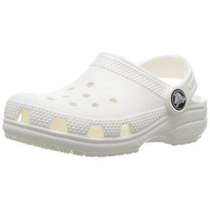 Crocs Classic Clog Kids, Sabots Mixte Enfant, Blanc (White), 27-28 EU