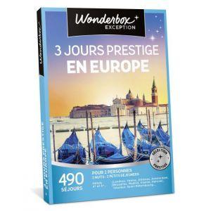 Wonderbox 3 jours prestige en Europe - Coffret cadeau