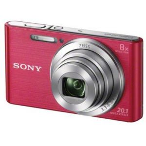 Sony Appareil photo Compact Pack DSC-W830 Rose + Housse