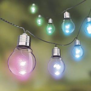 Xanlite Guirlande extérieure LED intégrée, couleurs changeantes