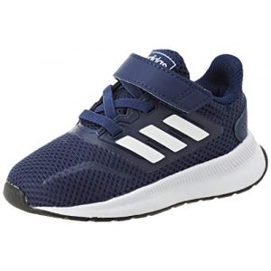 Adidas Runfalcon I, Basket Mixte Enfant, Dark Blue/FTWR White/Core Black, 23 EU