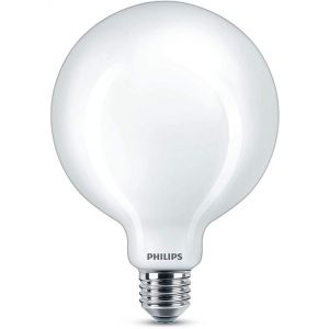 Philips LED E27 Lighting 64811400 EEC A++ (A++ - E) en forme de globe 7 W = 60 W blanc froid (Ø x L) 12.5 cm x 1