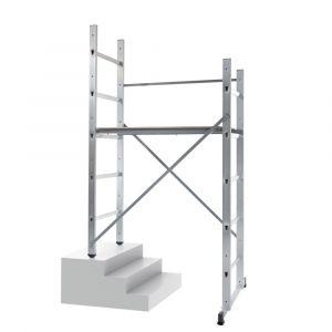 Hailo HOBBY 3 - Echafaudage 2 plans x 5 échelons hauteur travail 3m