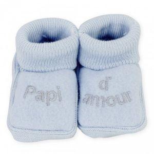 Trois Kilos Sept Chaussons bébé Papi d'amour 0-1 mois