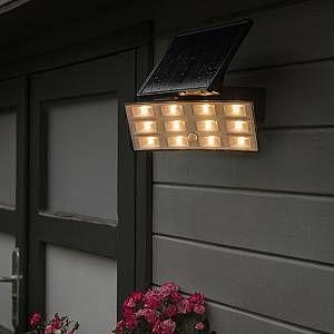 Qazqa Spot LED Flip à l énergie solaire avec PIR IP44