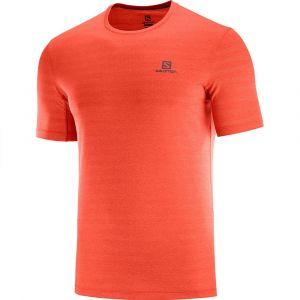 Salomon T-shirts Xa XL Valiant Poppy / Heather - Valiant Poppy / Heather - Taille XL
