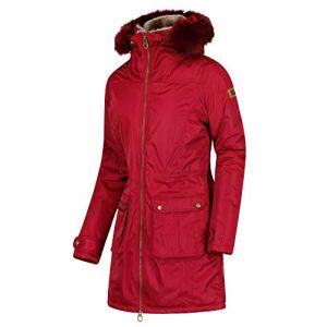 Regatta Lucasta Waterproof and Breathable Insulated Veste Femme, Rouge Rumba, Taille 46
