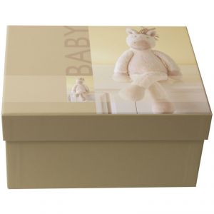 Henzo Boîte photo naissance Bobbyi avec ours en peluches (10x15 cm)