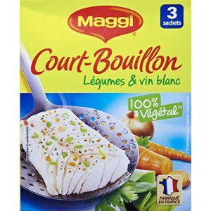Maggi Court - Bouillon Légumes & Vin Blanc (3 Sachets) - 150g